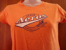 AKRON AEROS autographed juniors small T shirt baseball INDIANS Ohio 2006