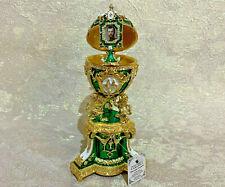 "Faberge Egg Green Danish Jubilee photo frame (7.09""). Made in Russia"
