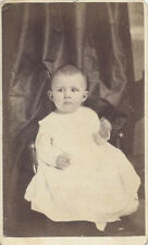 CDV PORTRAIT OF ADORABLE BABY W/ STERN EXPRESSION - SHARON, PA