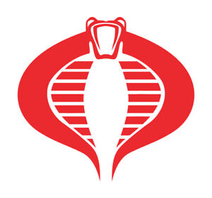 GI Joe Cobra Command Die cut VINYL DECAL - Logo Car Window Sticker phone laptop