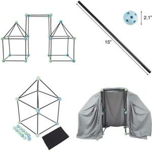 Construction Fort Building Toy Set For Kids With 60 Pieces - Build And Play Kit