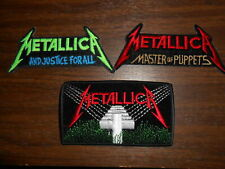 METALLICA  Vintage Embroidered Iron-On Patches LOT from late 80s
