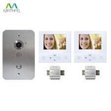 Video Türsprechanlage mit zwei 4 Zoll Monitore