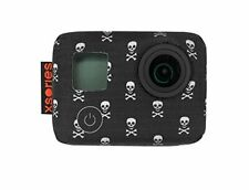 XSories Silicone Cover Case GoPro Hero, Hero 3, 3+ & Hero4 ~Black Skully Bones