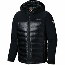 NWT Columbia Titanium Heatzone 1000 Turbodown Hooded Jacket Size S Black Silver