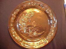 "8 Vintage Pink Federal Depression Glass Sharon Cabbage Rose 9 1/4"" Dinner Plates"