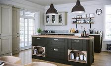 Wilton Shaker Oakgrain Graphite Rigid Built Kitchens, Traditional Modern Kitchen
