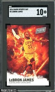 2016 Panini Father's Day Lebron James # 2 SGC 10 GEM MINT POP 1 ONLY