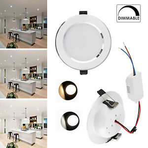 LED Recessed Ceiling Downlight 18W 15W 12W 9W 7W 5W 3W Dimmable Light Lamp RD107