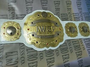 New IWGP Intercontinental Championship Belt Adult Size Metal Plates