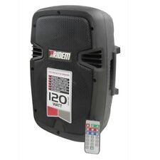 """RIDEM EASY 8BT cassa diffusore attivo 8"""" usb mp3 bluetooth tuner fm 120 watt"""