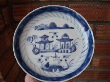 Antique Blue & White Japanese or Chinese Bowl Dish.