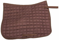 FULL SIZE BROWN QUILTED ENGLISH HUNTER JUMPER SCHOOLING HORSE TACK SADDLE PAD