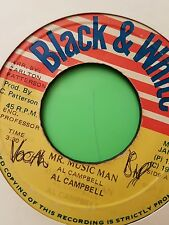 AL CAMPBELL - MR MUSIC MAN - BLACK & WHIITE 7 INCH