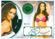 "SYD WILDER ""GREEN AUTOGRAPH CARD #02/11"" BENCHWARMER VEGAS BABY 2014"