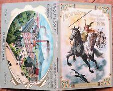 Perfume Almanach 1906 Pocket Calendar/Book - Karlsruhe - Color Litho