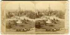 2 Stereofotos. 14th St. Circle, Washington um 1880