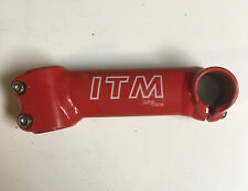 "ITM Big One 130mm Vintage Red Bicycle Stem 1"" Threadless"