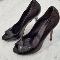[ ALEXANDER McQUEEN ] Womens Black Leather Pump / Shoes RRP$1000+ | Size EUR 40