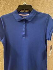 Back To School-Izod Uniform Approved Girls Short Sleeve Stretch Polo Shirt