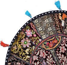 "32"" Black Round Floor Pillow  Floor Cushion Pouf Ottoman decorative throw pillow"