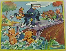 VINTAGE inlaid Frame tray Walt Disney Three Little Pigs & wolf puzzle USA Made