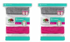 Fruit of the Loom Girls' Camisoles Tanks Camis 10pk 6 White 2 Pink 2 Gray