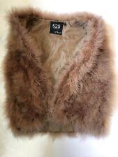 525 AMERICA Luxe Real Turkey Feathers Brown Vest fur animal bird