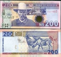 NAMIBIA 200 DOLLARS ND 1996 2003 P 10 B UNC