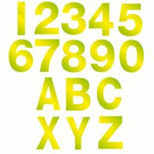 80mm Vinyl Hi Vis Numbers Letters Self Adhesive Sticker Wheely Wheelie Bin House