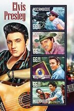 Mozambique 2016 MNH Elvis Presley 4v M/S Music Celebrities Stamps