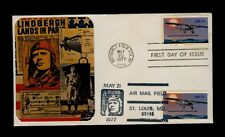 Scott# 1710 Lindbergh FDC Combo NY & St. Louis Cancels - Scarce Unofficial Combo