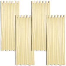4x Rideau à passants polyester 245x137cm voilage occultant jaune imprimé