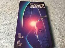 Star Trek: Generations (VHS, 1995) Patrick Stewart, William Shatner