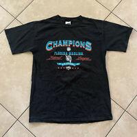 Vintage 2003 Florida Marlins National League Champions T-Shirt Medium VTG CSA M