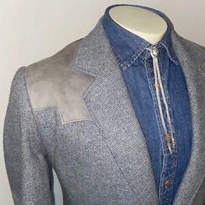 Pioneer Wear Western Blazer Jacket Cowboy Suit Coat Yoke Rockabilly VTG Mens 42