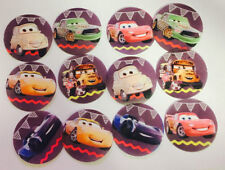 12 Disney Cars edible paper cupcake, cookie toppers decorations pre cut