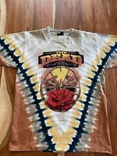 The Dead 2004 Red Rocks Tie Dye Liquid Blue T-Shirt Med Weir Lesh Herring Haynes