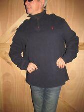 Polo Ralph Lauren Navy 1/4 Neck Cotton Pullover Shirt  Men's 2XL  NYZ4
