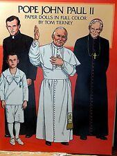 Tom Tierney Papier Poupées Pope John Paul II Uncut En Complet Couleur