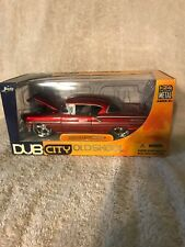 1958 Chevrolet Impala 1/24 diecast model Dub City by Jada Candy Apple VHTF. NIB.
