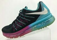 Nike Air Max 2015 Running Shoes Black Multicolored Training Sneakers Womens 10.5