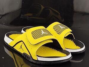 Jordan Hydro IV Retro Yellow White Black DN4238-701 Men's Slides Size 11 NEW