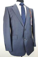 Mens Hammond & Co by Patrick Grant Navy Blue Pinstripe Suit 40R W34 L31.5 EZ446