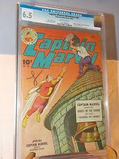 CAPTAIN MARVEL ADVENTURES # 40 (FAWCETT PUBLICATIONS) SHAZAM CGC 6.5 OCT 1944