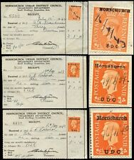 GB KG6 COMMERCIAL OVERPRINTS 1939-43 HORNCHURCH UDC 3 DIFFERENT TYPES...L3