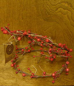 Boyds Accessories #654260 (2pc) KARINA'S WINTERBEARY GARLAND, NEW 6' Each