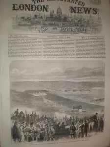 Army volunteers at Brighton shooting for prizes Sheepcote battery 1866 print