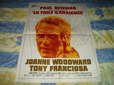 AFFICHE  PAUL NEWMAN / LA TOILE D'ARAIGNEE / 60X80