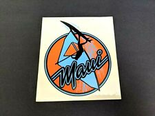 Vintage Windsurfing Maui Hawaii Blue and Neon Orange Sticker